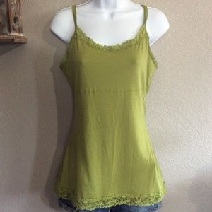 NWT Large Olive Green Cami Tank Top